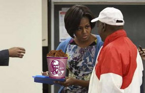 Michelle Obama Bribes Voters at Poll Station With Home ...